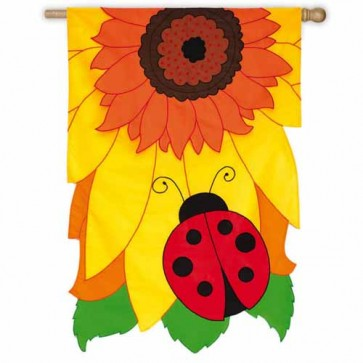 "Sunflower Ladybug ""Estate Flag"""