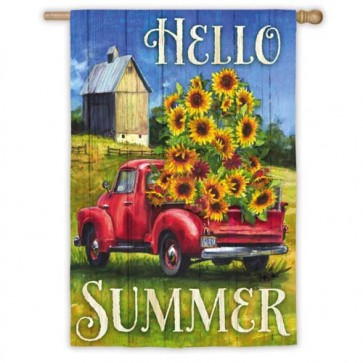 Sunflower Truck House Flag