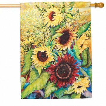 Sunflowers and Goldenrods House Flag