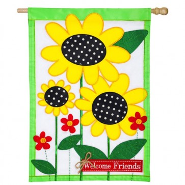 Sunflowers House Flag