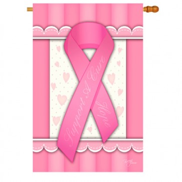 Support a Cure for Cancer House Flag