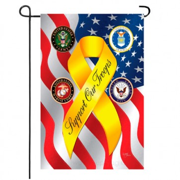 Support Our Troops Freedom Patriotic Garden Flag
