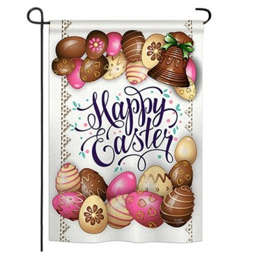 Sweet Chocolate Easter Garden Flag