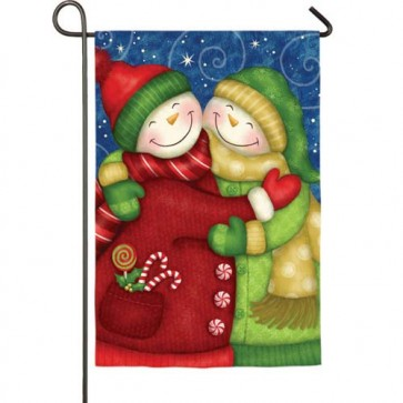 Sweet Snow friends Garden Flag