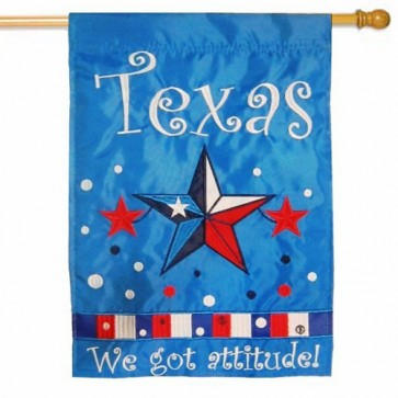 Texas Attitude  House Flag