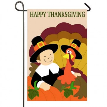 Thankful Pilgrims Garden Flag
