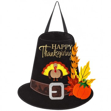Thanksgiving Pilgrim Hat Felt Door Hanger