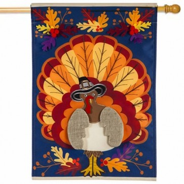 Thanksgiving Turkey House Flag