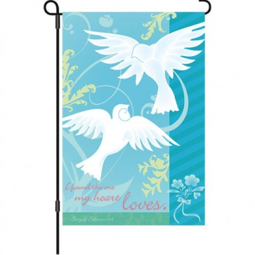 The One I Love Wedding Garden Flag
