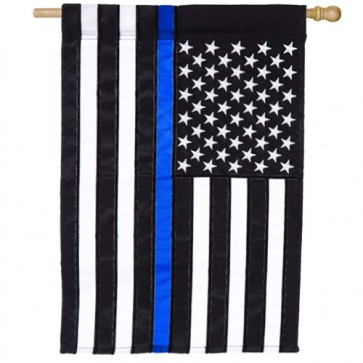 Thin Blue Line House Flag