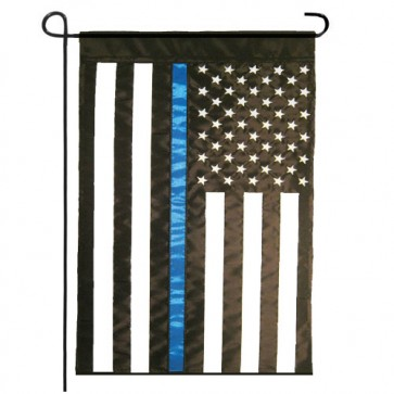 Thin Blue Line (Applique) Garden Flag