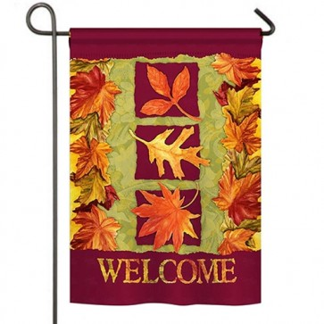 Three Fall Leaves Garden Flag