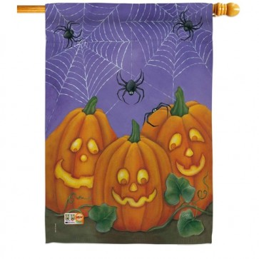 Three Pumpkins House Flag