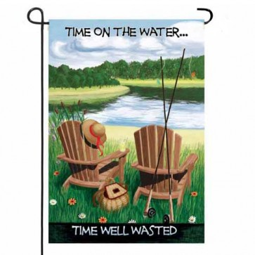 Time on the Water Garden Flag