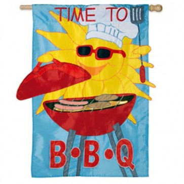 Time to BBQ House Flag
