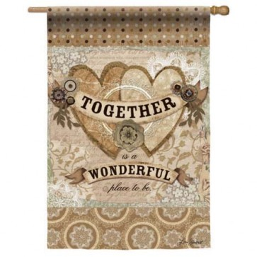 Together is Wonderful House Flag (2 Different Sides)