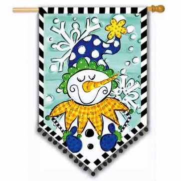 Tom Tom Jolly Snowman House Flag