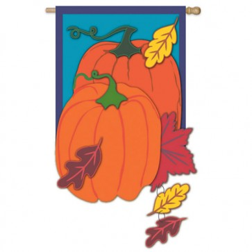 Traditional Pumpkin Estate House Flag