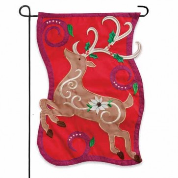 Traditional Reindeer Garden Flag