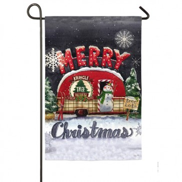 Christmas Tree Lot Christmas Garden Flag