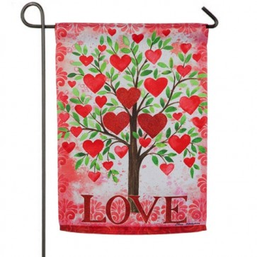 Tree of Love Valentines Day Garden Flag
