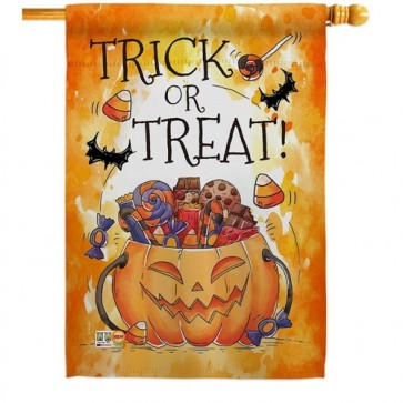 Trick or Treat Candy House Flag