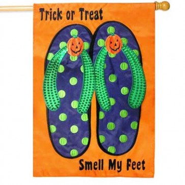 Trick or Treat Flip Flops House flag