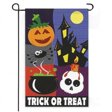 Trick or Treat Night Garden Flag