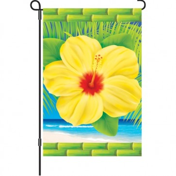 Tropical Hibiscus Garden Flag