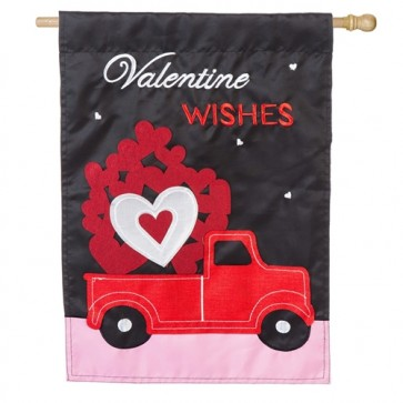 Truckload of Hearts House Flag