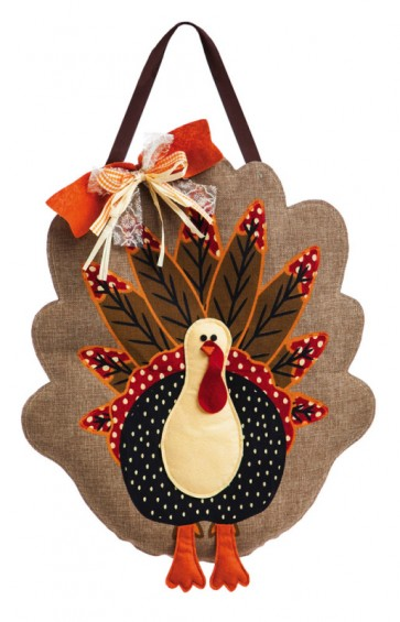 Turkey Burlap Door Hanger