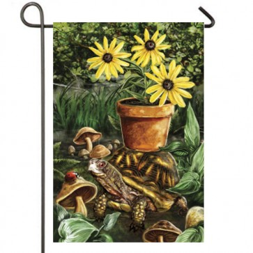 Turtle and Ladybug Garden Flag