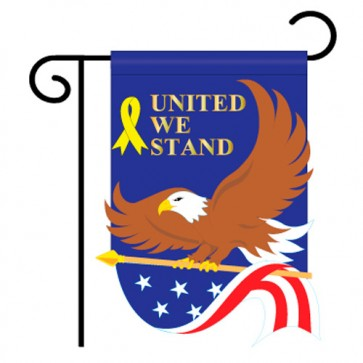 United We Stand Patriotic Garden Flag