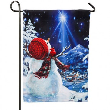 Upon a Midnight Clear Christmas Garden Flag