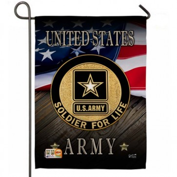 U.S Army Soldier for Life Garden Flag