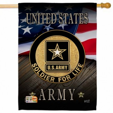 U.S Army Soldier for Life House Flag