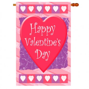 Valentine Heart House Flag