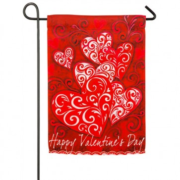 Valentine's Day Scroll Garden Flag