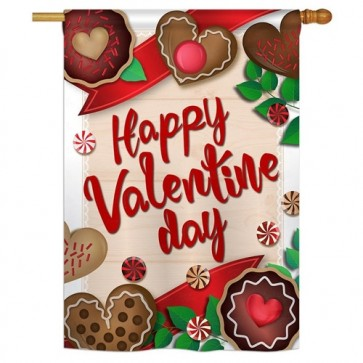 Very Sweet Valentine's Day House Flag