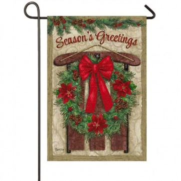 Vintage Holiday  Garden Flag
