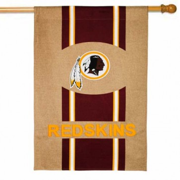 Washington Redskins Burlap House Flag