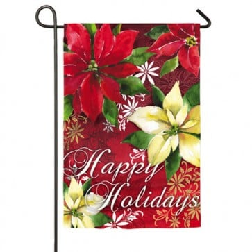 Watercolor Poinsettia Garden Flag