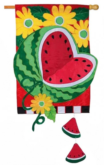 Watermelon Summer  House Flag