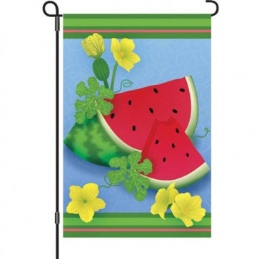 Watermelon Slices Summer Garden Flag