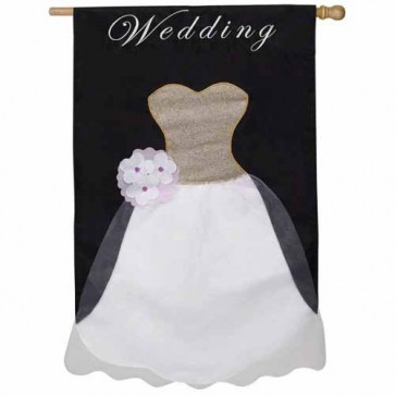 Wedding Dress House Flag