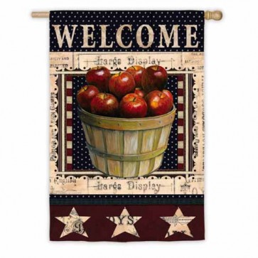 Welcome Apples House Flags