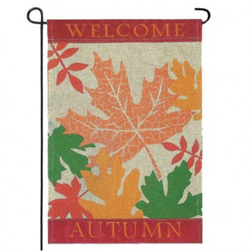 Welcome Autumn Garden Flag (Burlap)