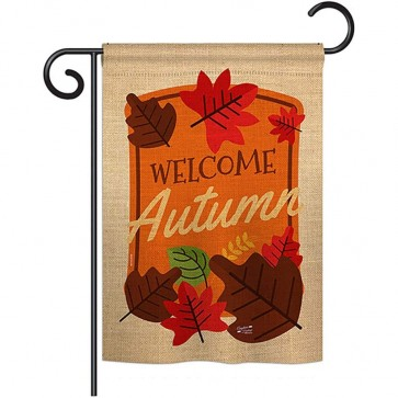 Welcome Autumn Garden Flag
