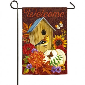 Welcome Birdhouse Garden flag
