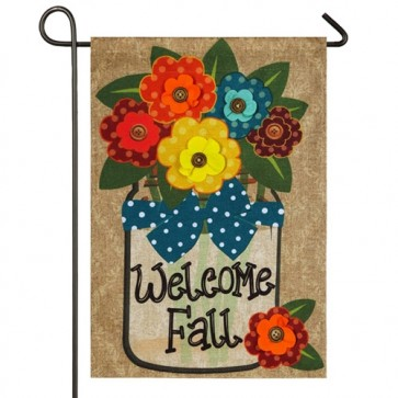 Welcome Fall Burlap Garden Flag